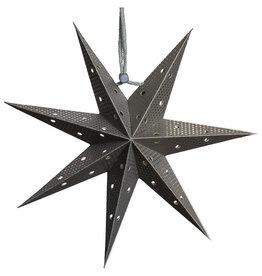 Tranquillo Papieren ster antraciet zwart punched 20 cm