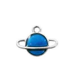Bedel planeet blauw zilver (1x)
