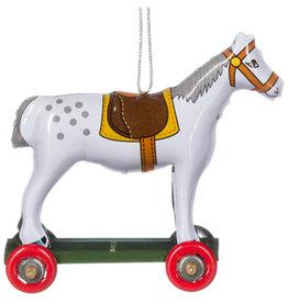 Penny Toy paardje wit met grijze stip