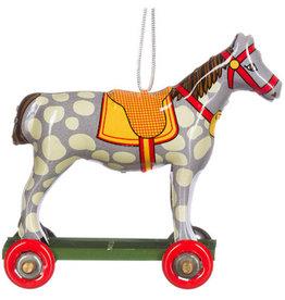 Penny Toy paardje grijs met witte vlekken