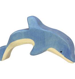Holztiger Dolfijn van hout