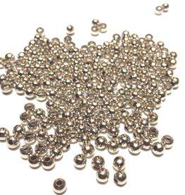 Metalen tussenkraal verzilverd 3 mm (30x)