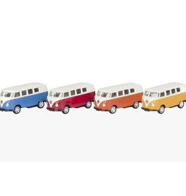 Mechato Volkswagenbus diecast mini (diverse kleuren)