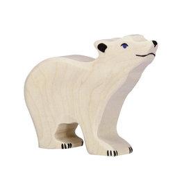 Holztiger Kleine ijsbeer van hout