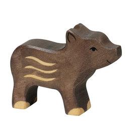 Holztiger Jong wild zwijn van hout