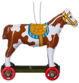 Penny Toy paardje wit met bruine vlek