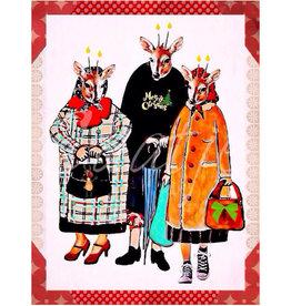 Kaartje van Caatje Postkaart Merry Christmas Rendieren