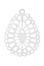 Filigraanhanger druppel 2 zilver (1x)