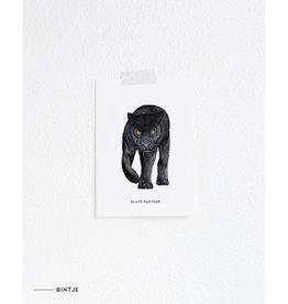 Meesie & Bintje Kaart zwarte panter