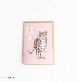 Meesie & Bintje Dubbele ansichtkaart Happy birthday tiger