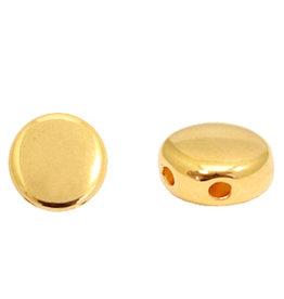 Duo beads dq metaal goud 6 mm (1x)