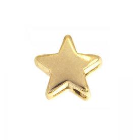 Metaal kraal goud sterretje (5x)