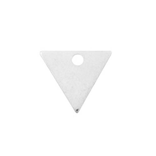 Bedel DQ metaal driehoek zilver (1x)