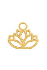 Bedel DQ metaal lotusbloem goud (1x)