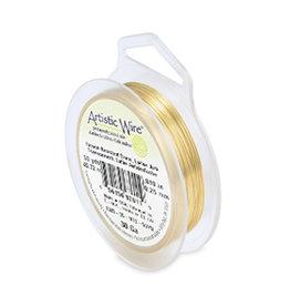 Artistic wire tarnish resistant brass/goud 0.26 mm (1x)