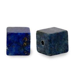 Natuursteenkraal kubus bluevain stone 8 mm blauw