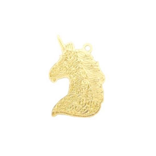 Bedel filigraan eenhoorn goud (1x)