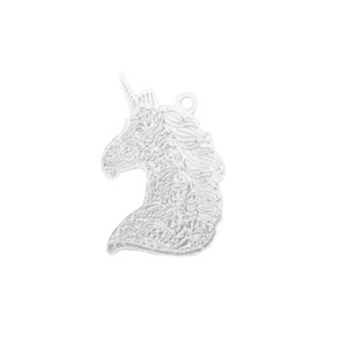 Bedel filigraan eenhoorn zilver (1x)
