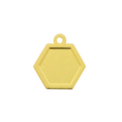 Bedel hexagon goud