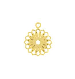 Bedel filigraan bloem goud