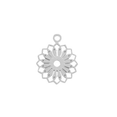 Bedel filigraan bloem zilver