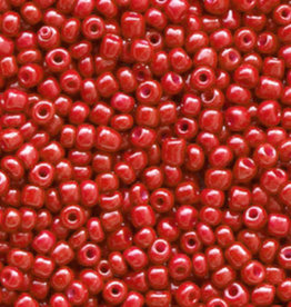 Glaskralen rocailles 2 mm 12/0 crimson rood (10gr)