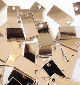 Metalen label rechthoek