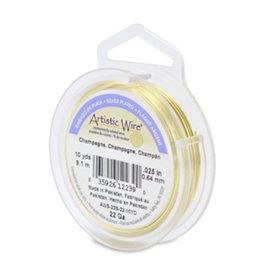 Artistic wire verzilverd champagne 0.64 mm