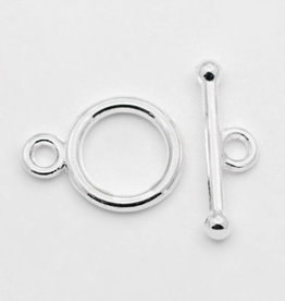 Kapittelslot glad rond zilver 10 mm