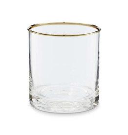 VT Wonen Theelicht glas gouden rand