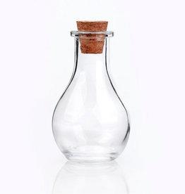Glazen flesje bol