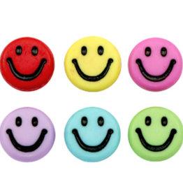 Smiley kralen mix acryl (15x)