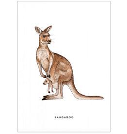 Meesie & Bintje Kaart kangaroe