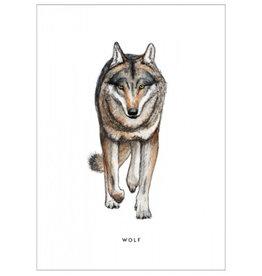 Meesie & Bintje Kaart wolf