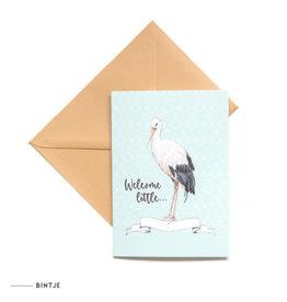Meesie & Bintje Dubbele ansichtkaart welcome little ...