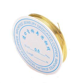Koperdraad goudkleurig 0,6 mm