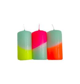 Pink Stories Dip dye neon stompkaarsen rainbow drops