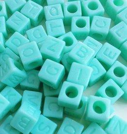 Letterkralen kubus mint