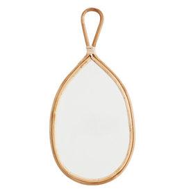Madame Stoltz Ovale spiegel bamboe