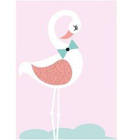 Sparkling Paper Kaart flamingo