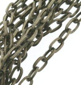 Schakelketting ovaal brons (p/10 cm)