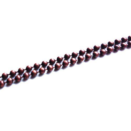 Ball chain donker koper 1.2 mm