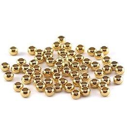 DQ knijpkralen goud 2 mm (50x)
