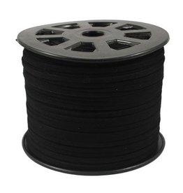 Zwart suede 3 mm (p/m)