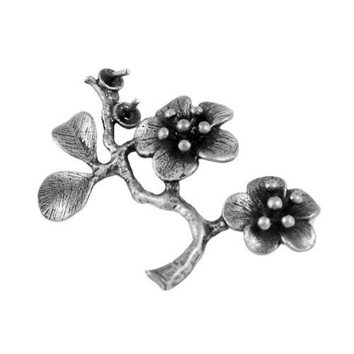Bloemtak ornament antiek zilver (1x)