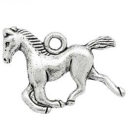 Paard bedel antiek zilver (1x)