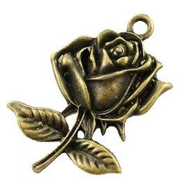 Bedel roos brons (3x)