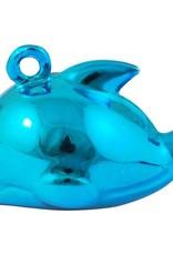 Dolfijnbelletje metallic blauw (1x)