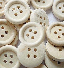 Houten knoopje naturel 13 mm (15x)