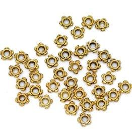 Metalen mini kralen goudkleurig (30x)